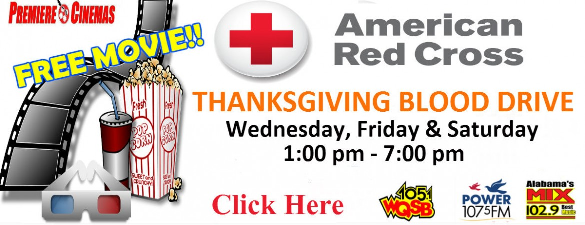 Red Cross Thanksgiving Blood Drive