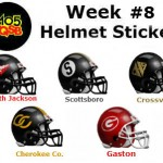 week 8 helmet stickers