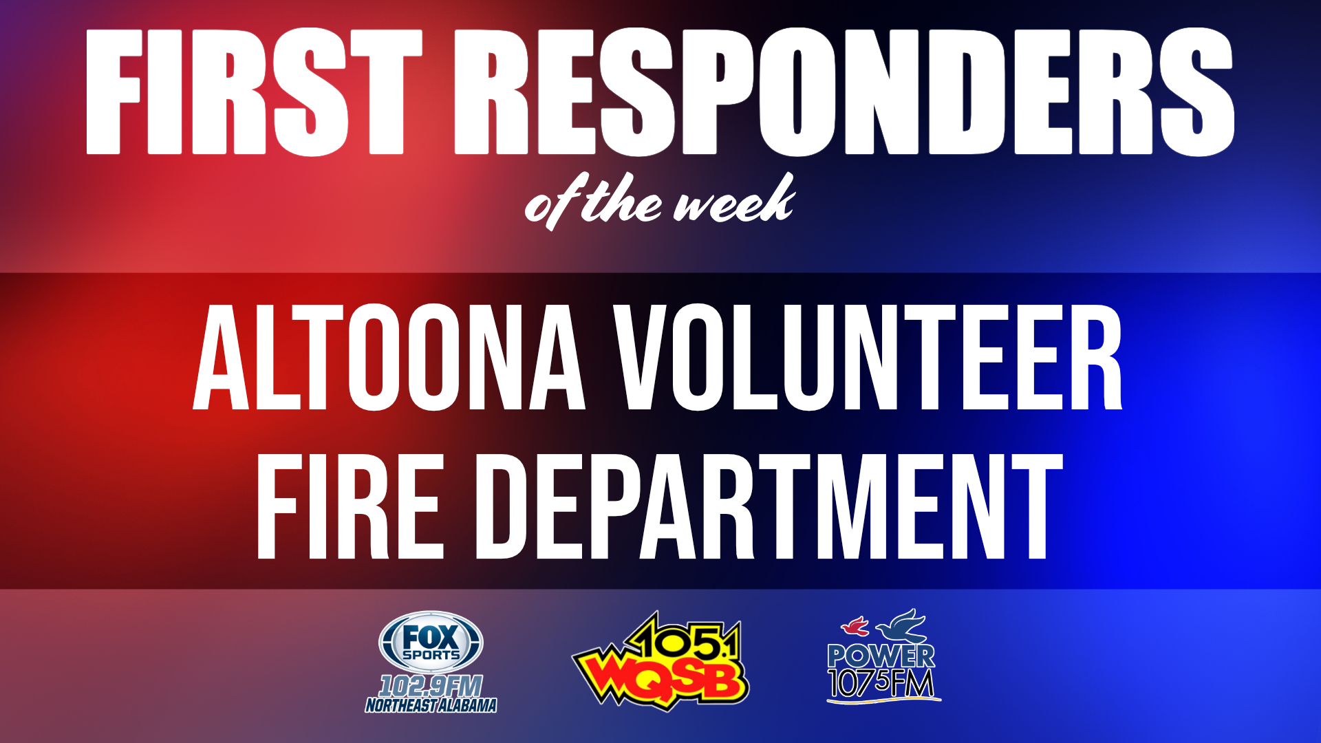 WQSB First Responders of the Week 2021 February 1, 2021