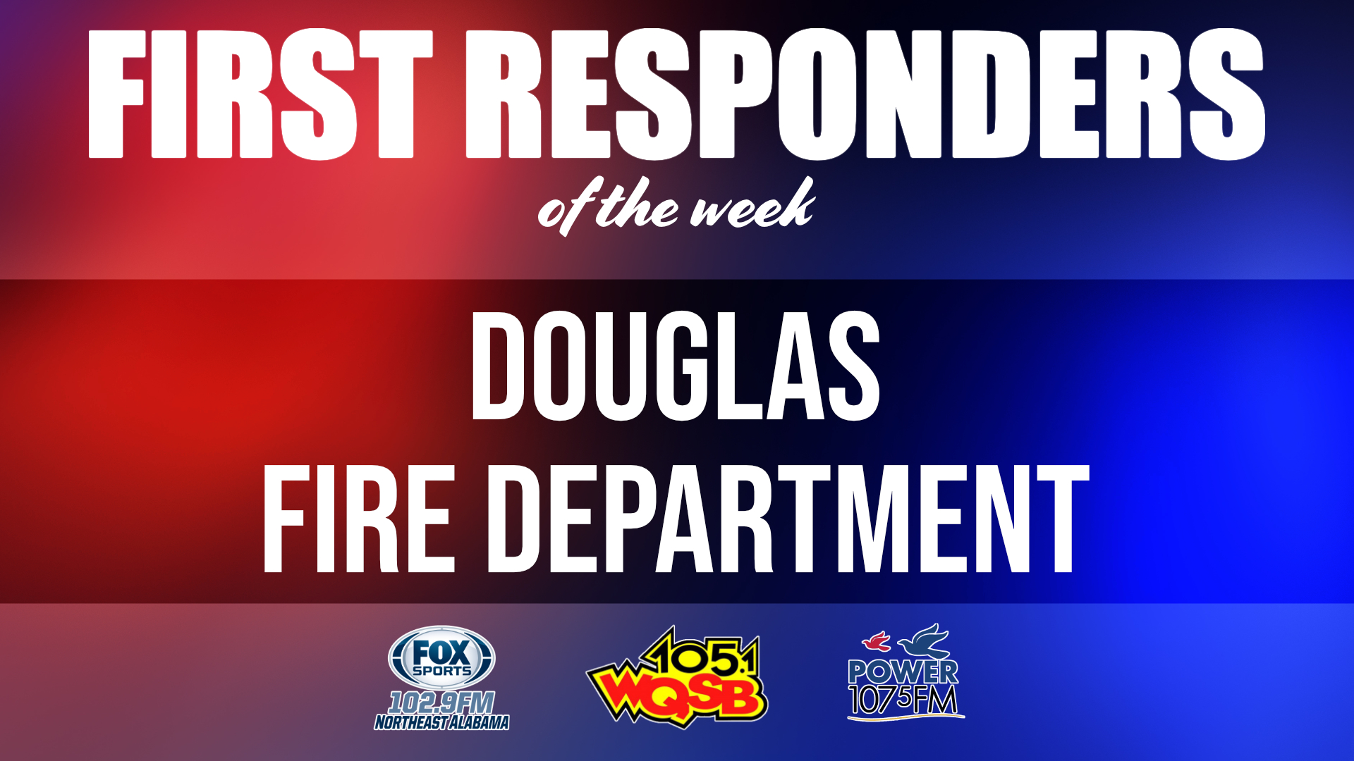 WQSB First Responders of the Week 2021 February 15, 2021