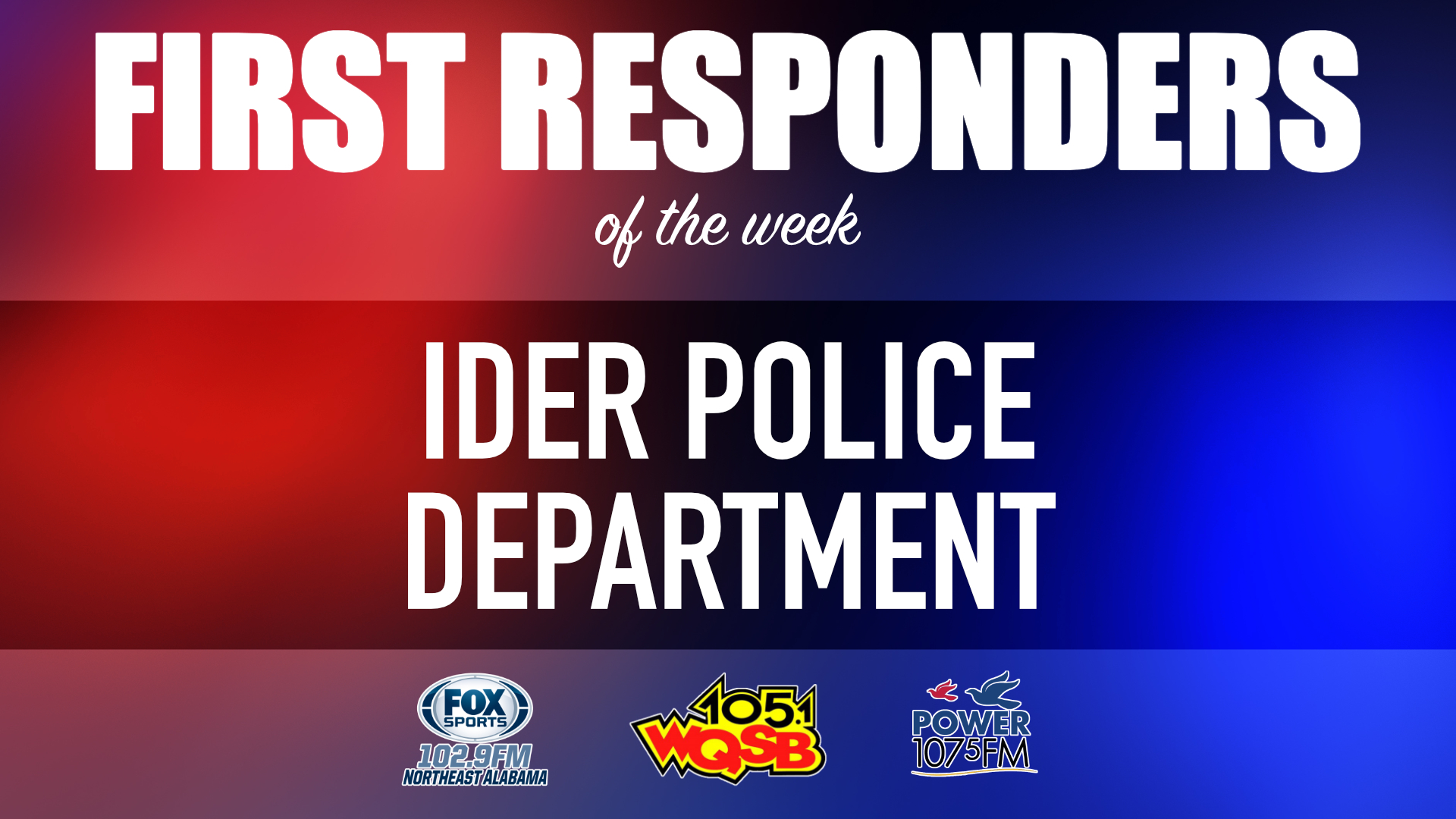 WQSB First Responders of the Week 2021 July 12th, 2021