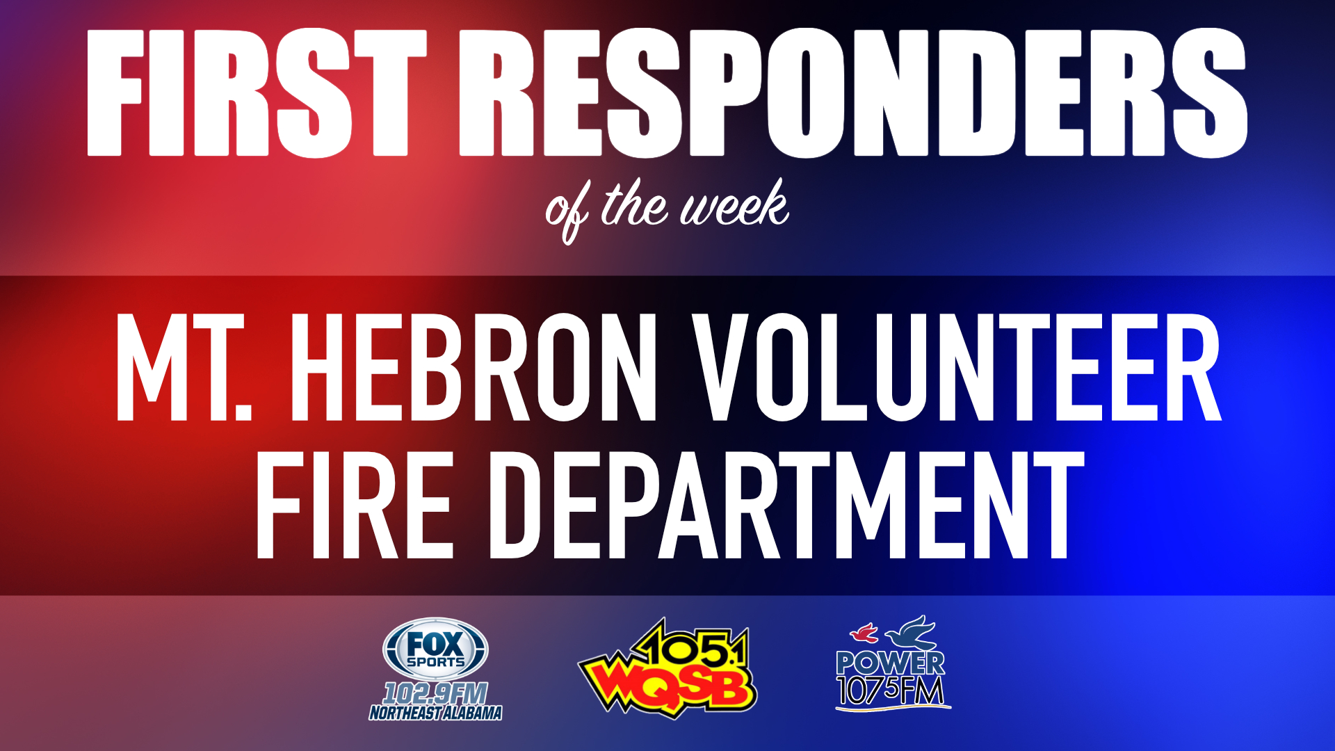 WQSB First Responders of the Week 2021 June 7th, 2021