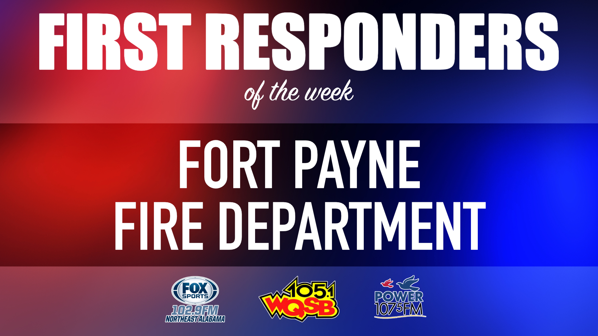 WQSB First Responders of the Week 2021 March 22, 2021