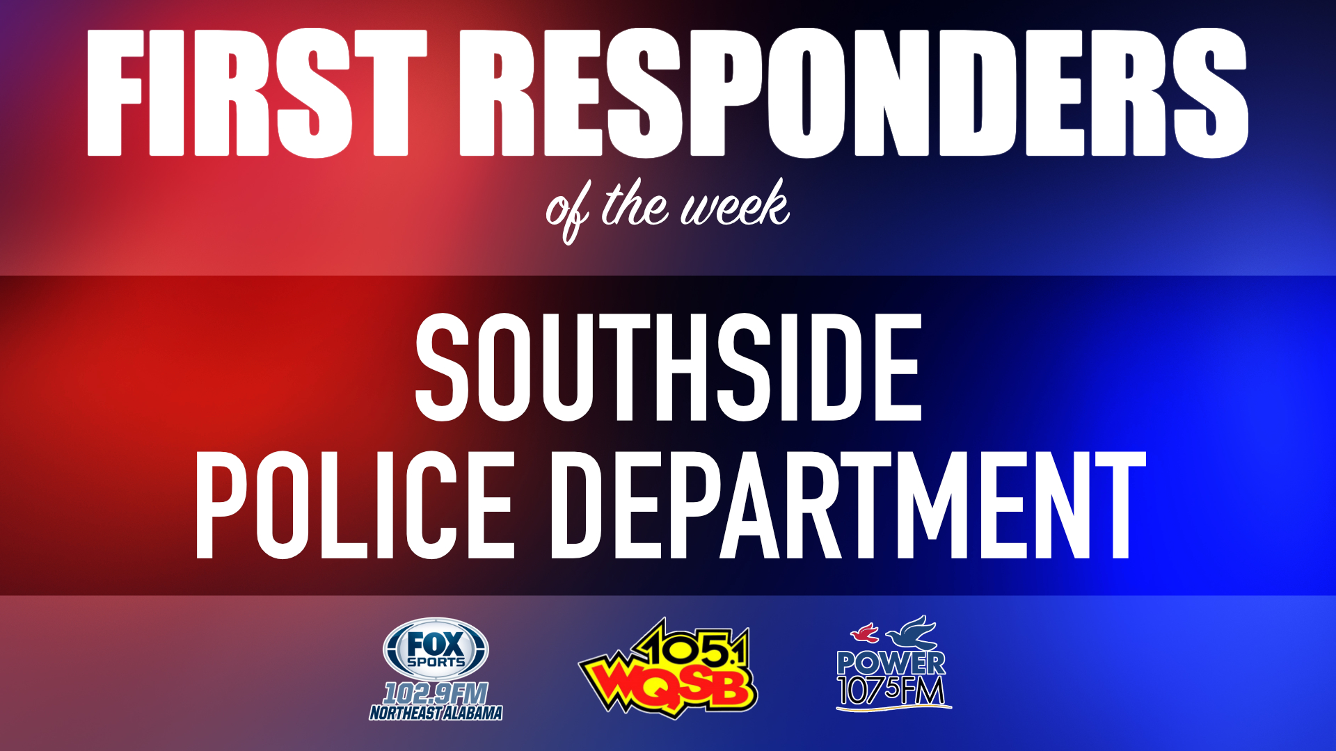 WQSB First Responders of the Week 2021 March 29, 2021