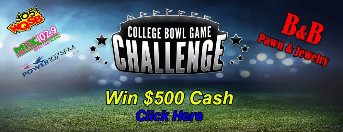 College Bowl Game Challenge 2017