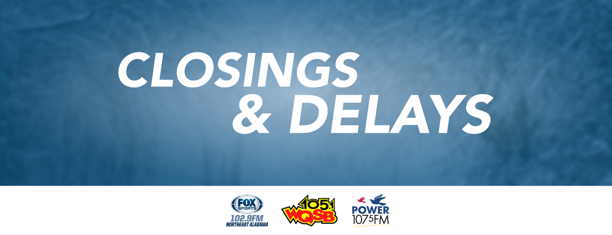 Closing and Delays Website Banner