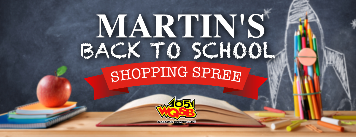 Martins Back to School Shopping Spree Banner 2