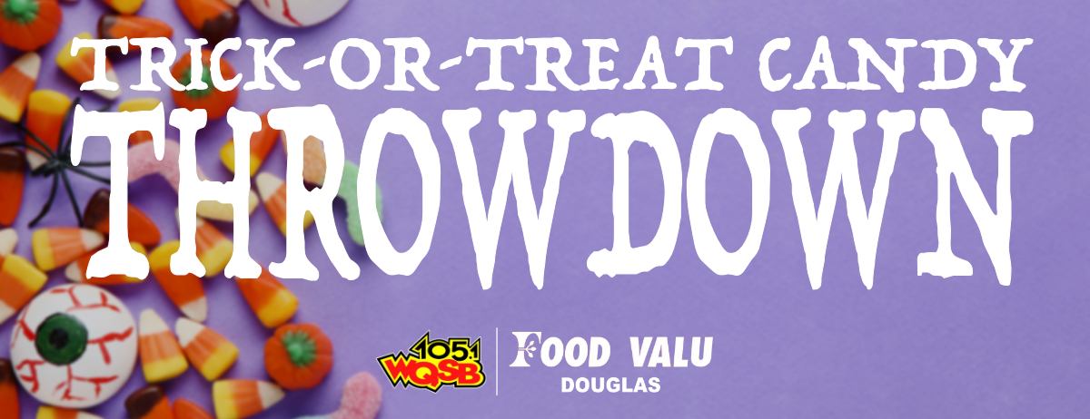 WQSB Trick Or Treat Candy Throwdown Click Here Website Banner